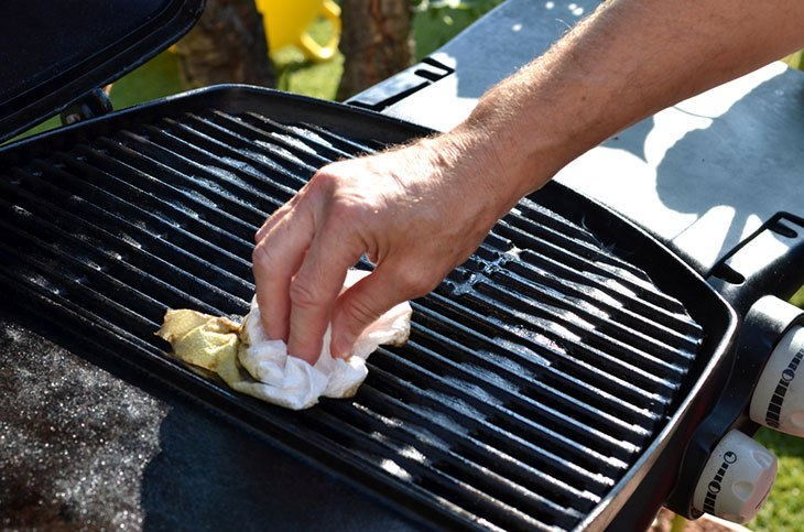 how to clean a george foreman outdoor grill